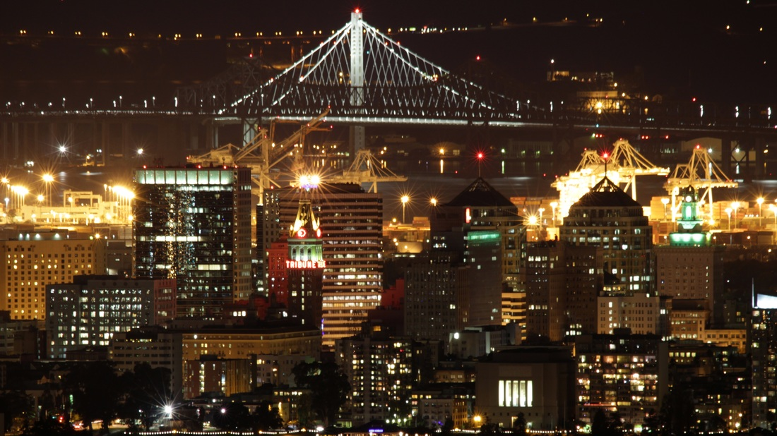 Oakland, California at Night